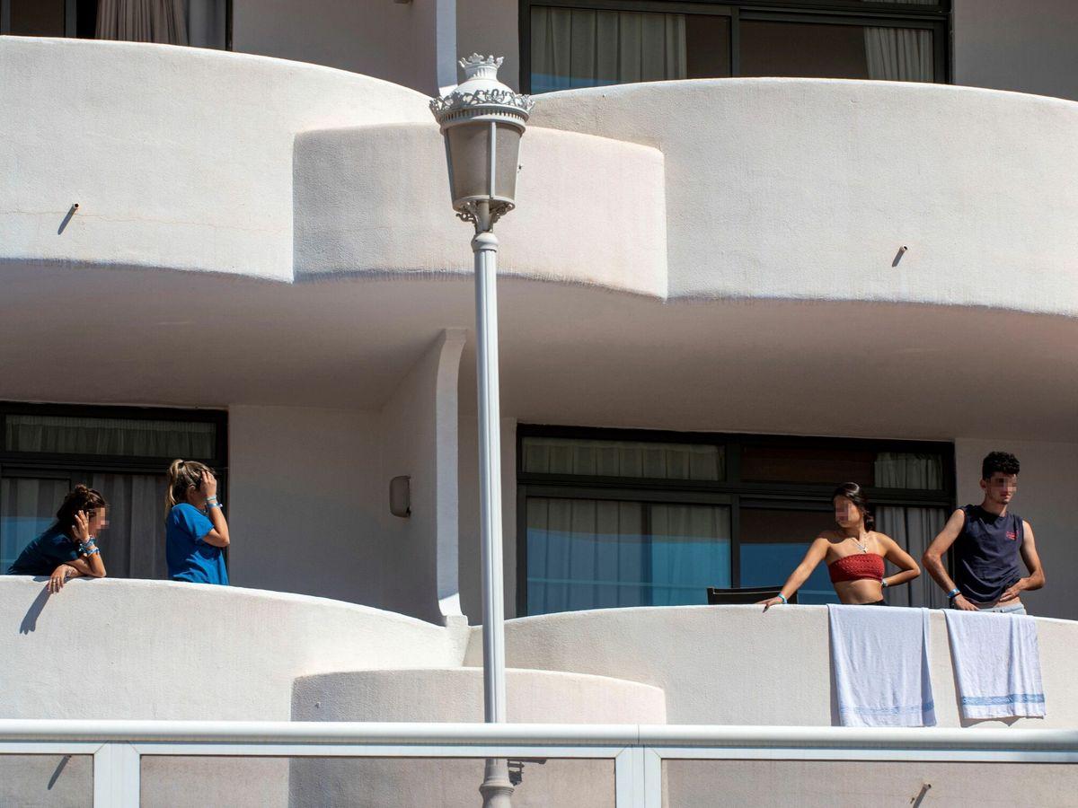 Foto: Balcones de un hotel en Palma de Mallorca (EFE)