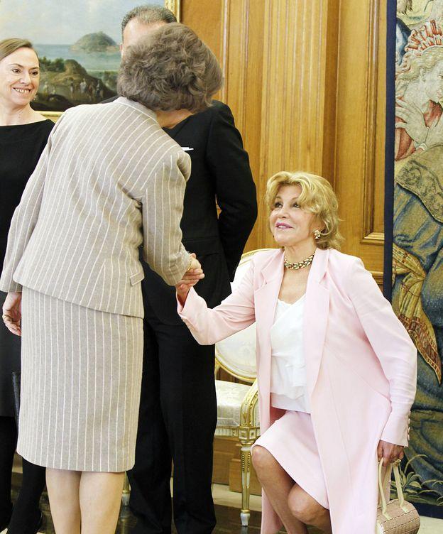 Foto: Doña Sofía y Tita Cervera en una imagen de archivo (Gtres)