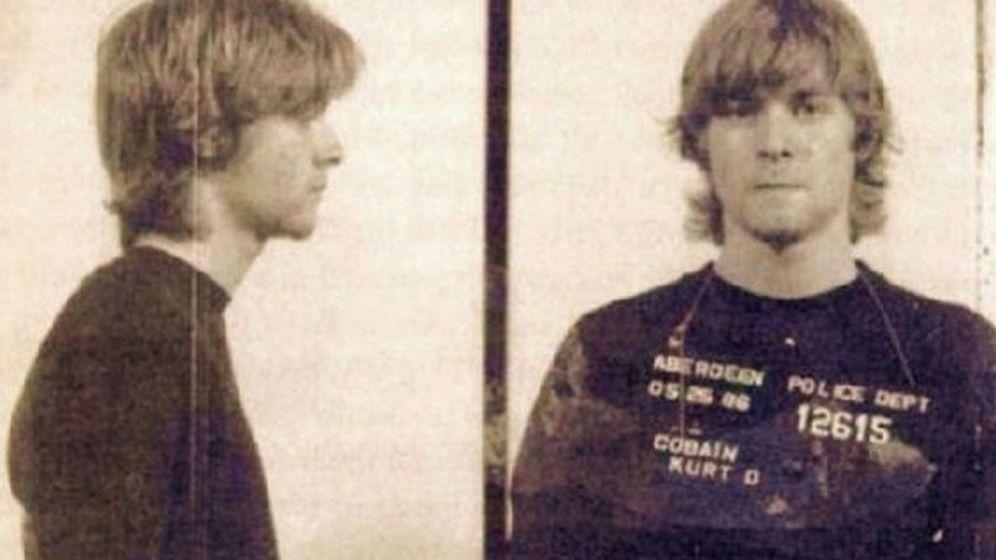 Foto: Kurt Cobain en una foto policial