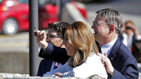 Susana Díaz pisa el lugar del crimen: así hace campaña en el corazón de la Operación Taula