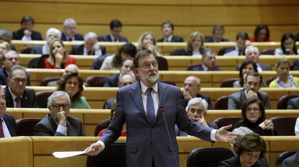 Foto: El presidente del Gobierno, Mariano Rajoy, en el Senado (Efe)