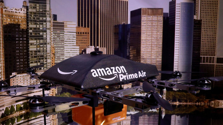 Un prototipo de dron de reparto de Amazon. (Reuters)