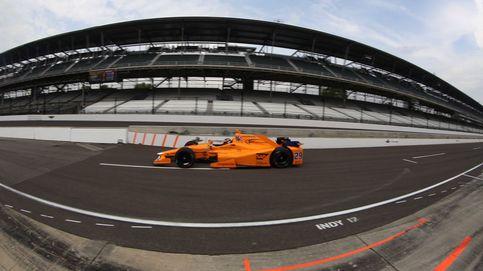 Alonso 'saca la patita' como potencial aspirante al triunfo en las 500 Millas