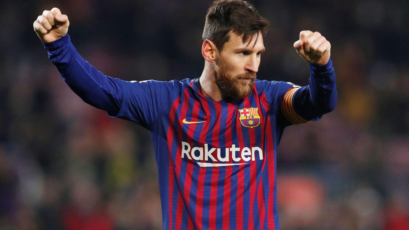Foto: Leo Messi celebra un gol en un partido con el Barcelona. (Efe)