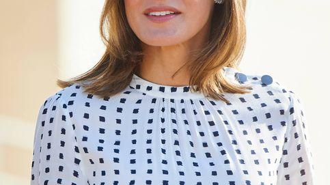 El nuevo vestido de la reina Letizia le juega una mala pasada en Salamanca