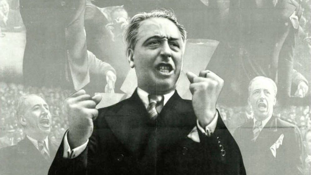 Foto: Lluís Companys en un cartel de la Guerra Civil