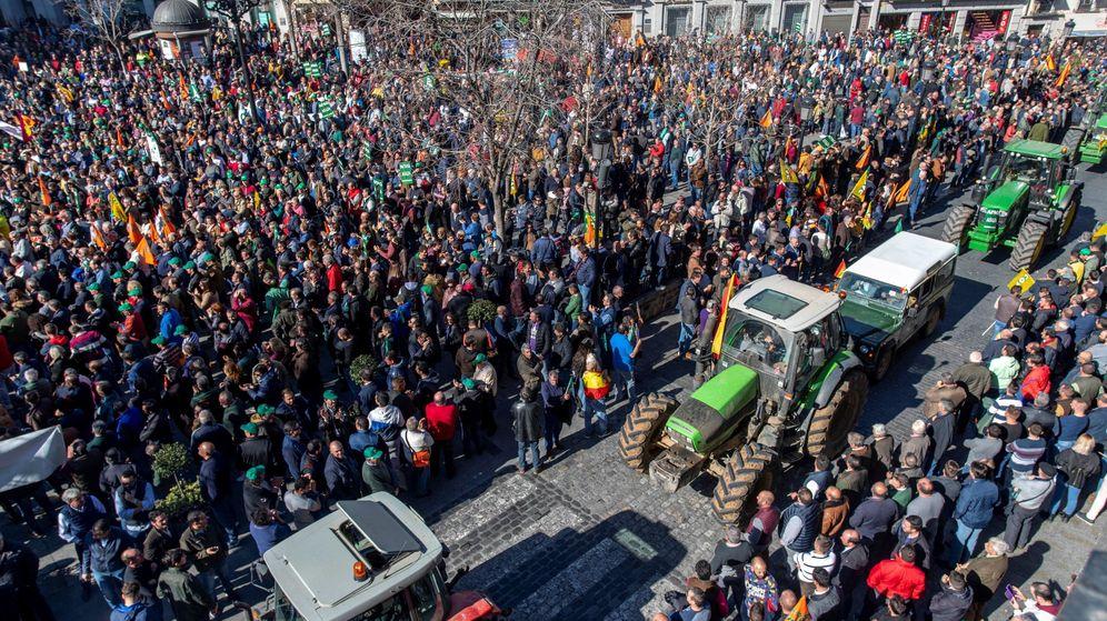 Foto: Manifestación de agricultores el pasado 4 de febrero. (EFE)