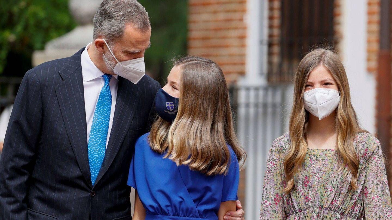El rey Felipe y la mirada hacia su hija. (EFE)