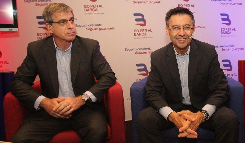 Foto: Jordi Mestre (vicepresidente del Barcelona) junto a Josep María Bartomeu (EFE)