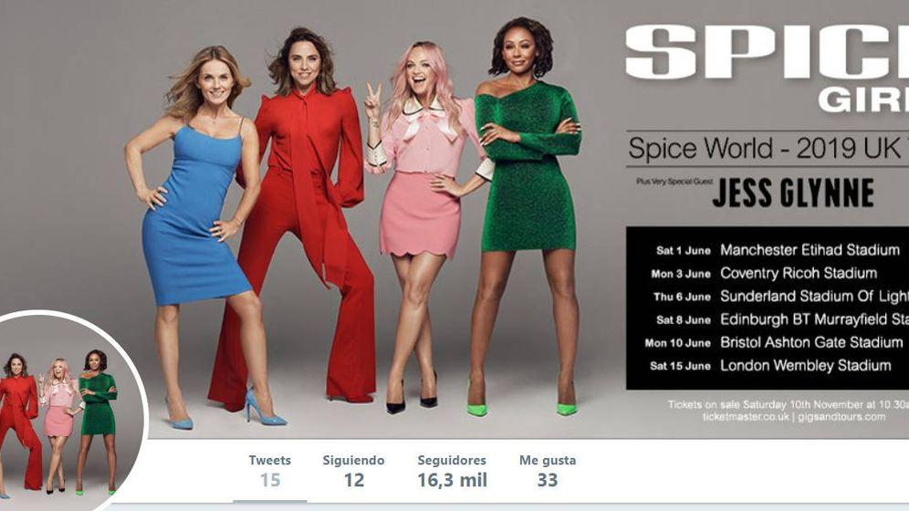 Foto: Cartel de la gira de las Spice Girls en 2019, sin Victoria Beckham