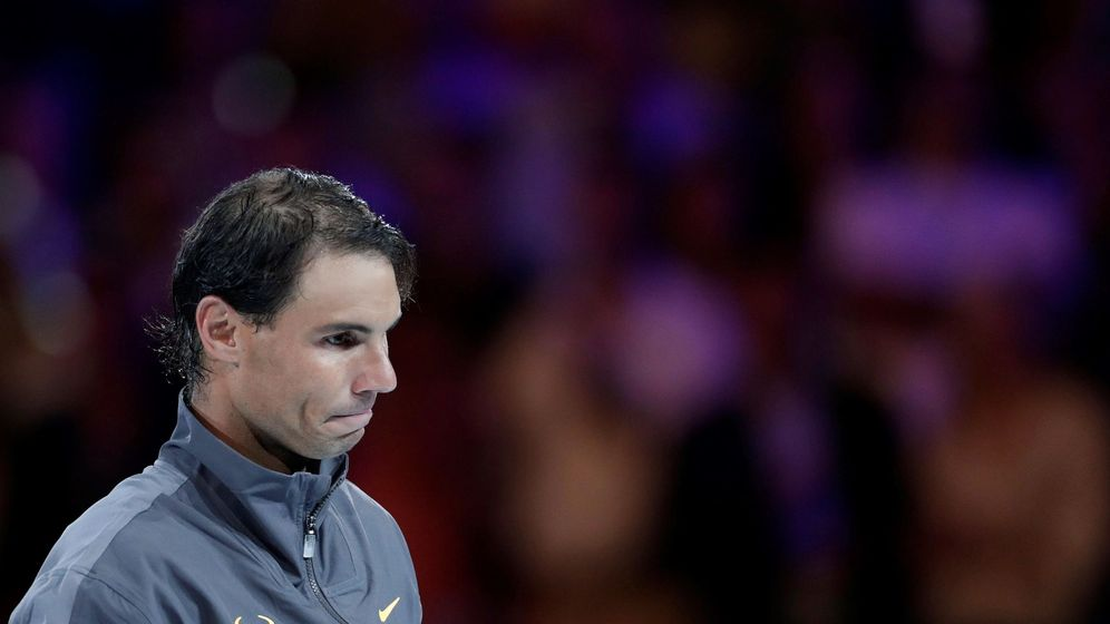 Foto: Rafa Nadal, pensativo tras un partido. (EFE)