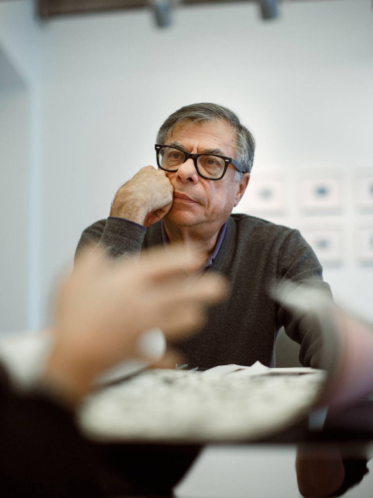 Bob Colacello, en Ivorypress, en noviembre de 2019. (© Pablo Gómez-Ogando. Cortesía Ivorypress)