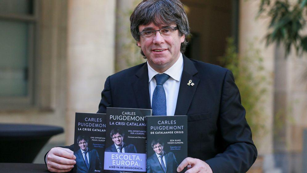 Foto: Puigdemont presenta su nuevo libro en Bruselas. (EFE)