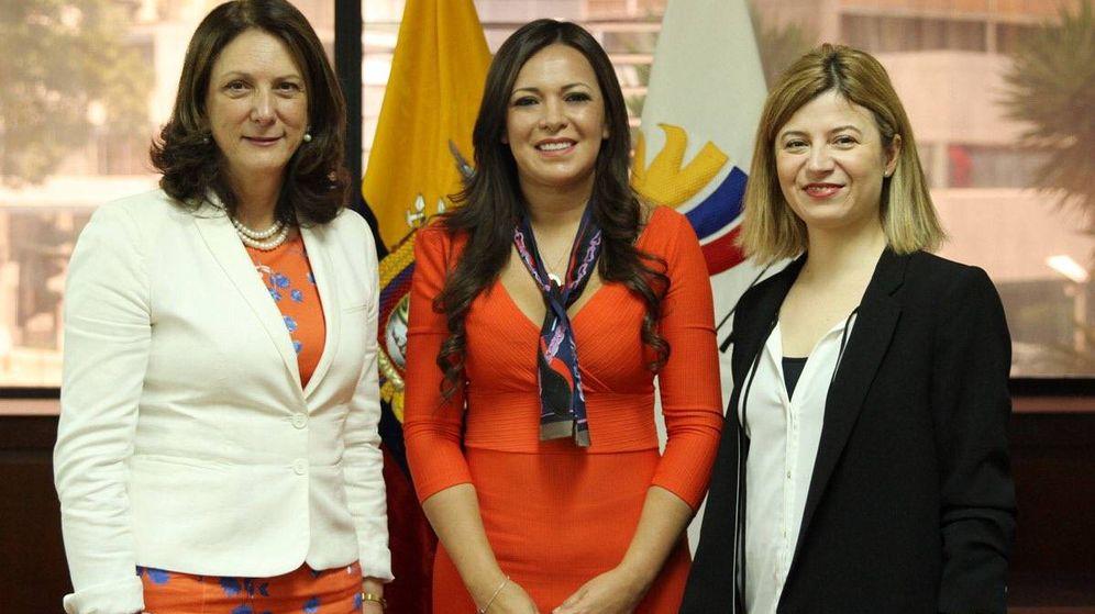 Foto:  La asesora especial de ONU Mujeres, Bibiana Aído (d).