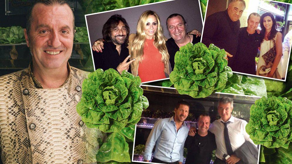 Foto: Floren Domezain, el rey de las verduras, que conquista a la 'jet' (Fotomontaje realizado por Vanitatis)