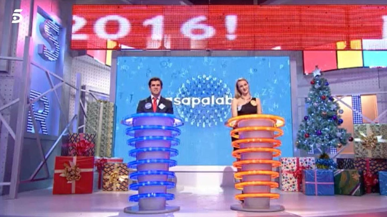 Nacho, en el especial de Nochevieja de 'Pasapalabra'. (Mediaset)