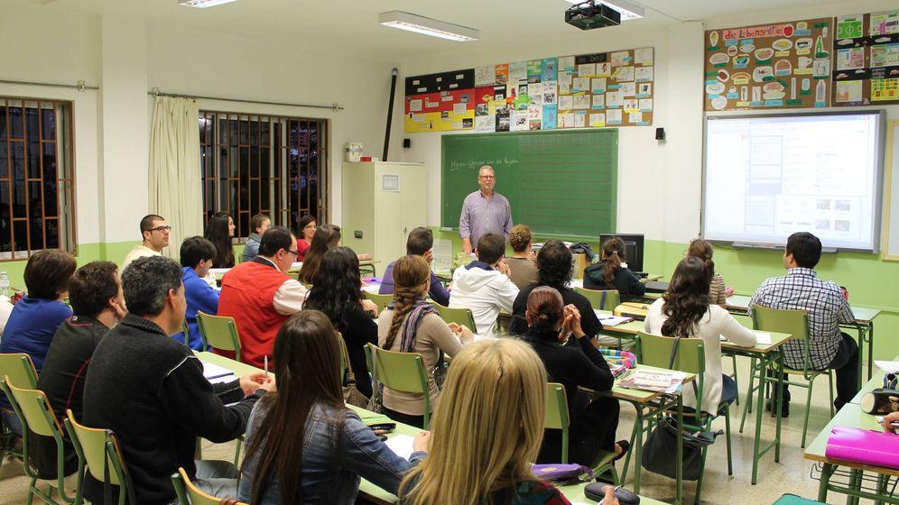 Foto: Clase de alemán en la Escuela Oficial de Idiomas Icod. (Facebook Icod)