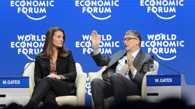 Foto:  El co-fundador de Microsoft y filántropo Bill Gates junto a su mujer (Efe)