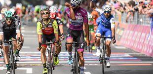 Post de El reinado de Gaviria en los sprints no tiene fin y consigue un gran 'hat-trick'
