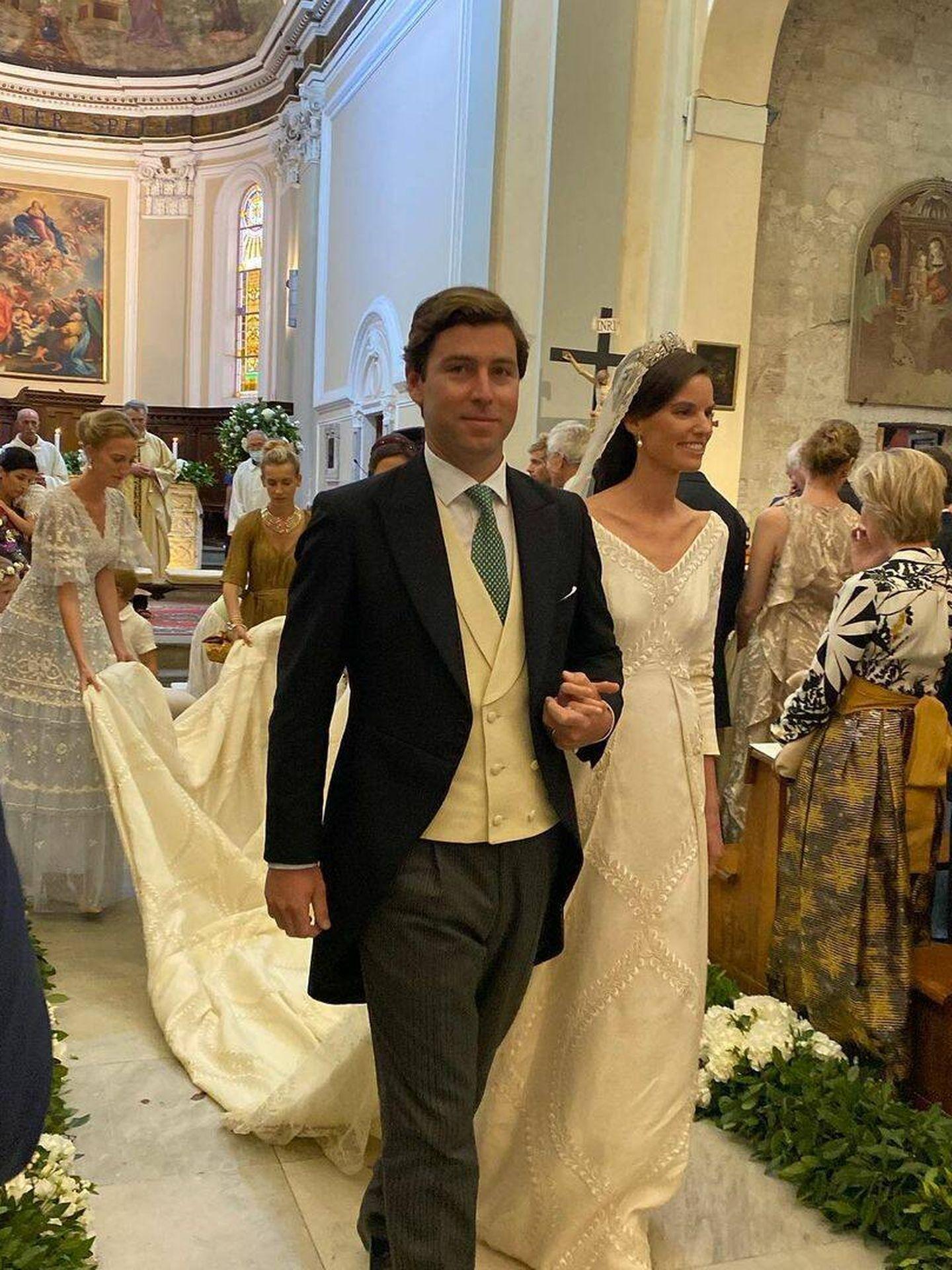La princesa Astrid de Liechtenstein y Ralph Wonthington. (Redes)