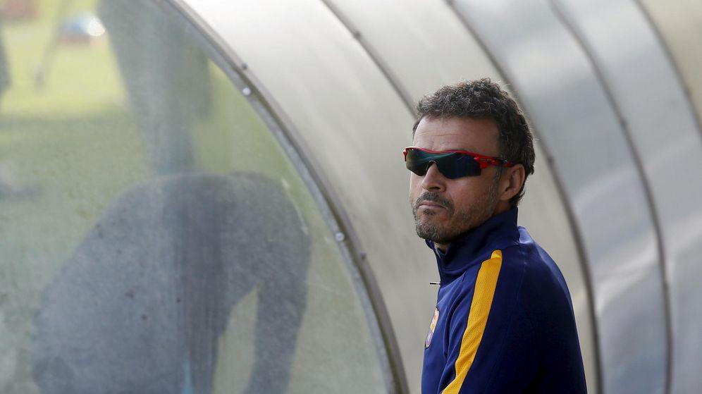 Foto: Luis Enrique, durante un entrenamiento del Barcelona (Reuters)