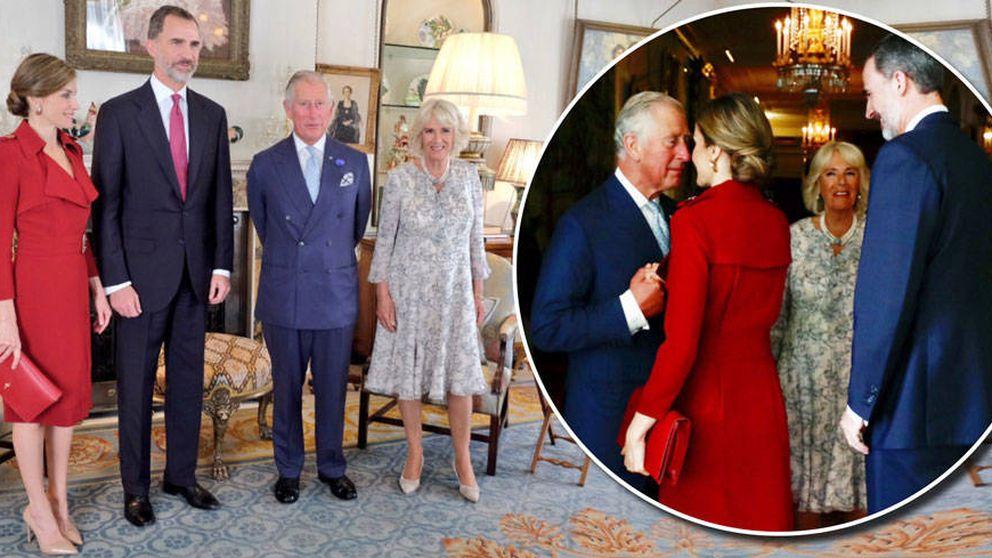 El guiño 'mileurista' de Letizia a la moda británica en su visita a Reino Unido