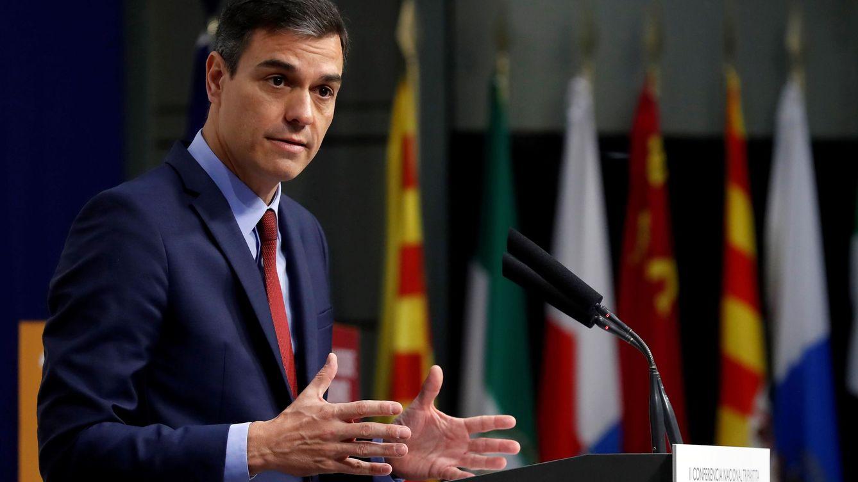 Foto: Pedro Sánchez, durante la II Conferencia Nacional Tripartita titulada 'El futuro del trabajo que queremos'.