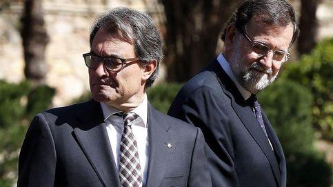 Rajoy recalca la españolidad de Barcelona y Mas señala a horizontes europeos