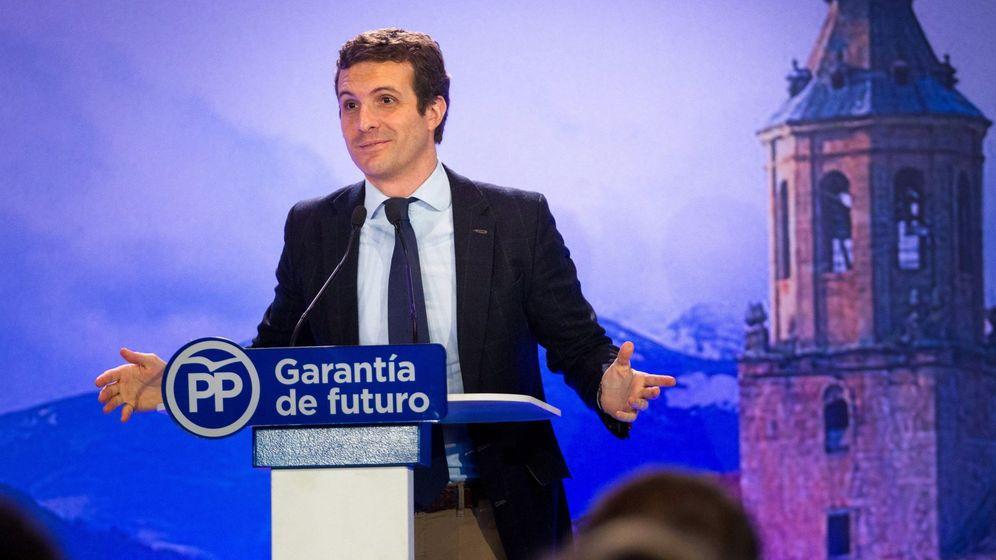Foto: Pablo Casado en un acto en La Rioja. (EFE)