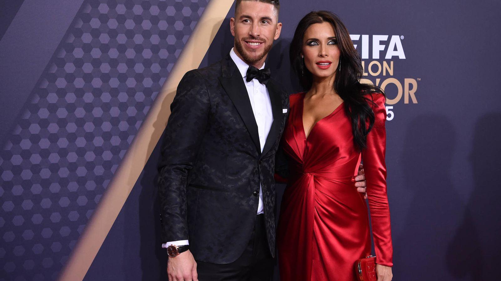 Foto: Pilar Rubio y Sergio Ramos, en la gala del Balón de Oro. (Getty)