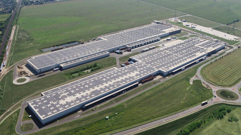 La planta de Audi en Gyor, Hungría, tiene el techo fotovoltaico más grande de Europa, 160.000 metros cuadrados.