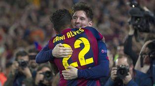 Messi pidió al Barça un esfuerzo para renovar a su amigo Dani Alves