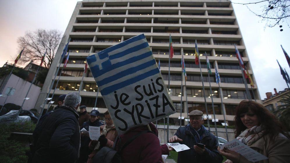 Foto: Pancarta a favor de Syriza (Reuters)