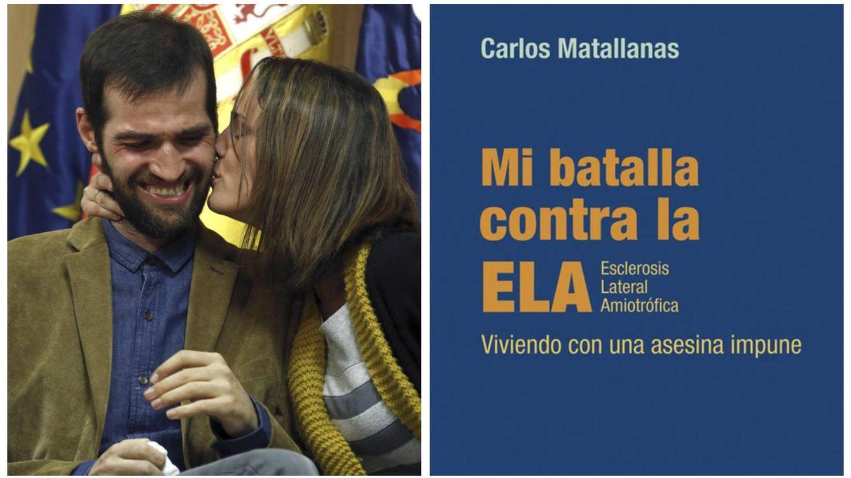 Foto: Carlos Matallanas, su novia y la portada del libro. (EC)