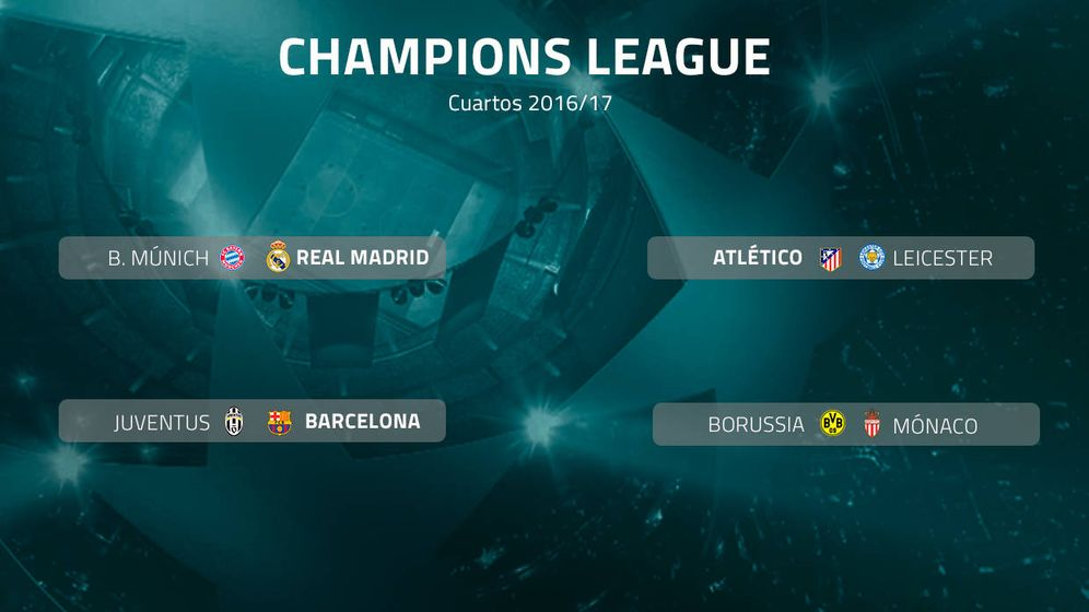 Champions League: Bayern-Real Madrid, Atlético-Leicester y Juve ...