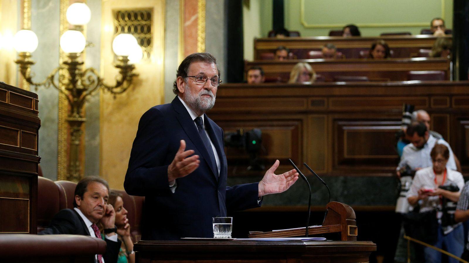 Foto: El presidente del Gobierno, Mariano Rajoy, durante su intervención. (Reuters)