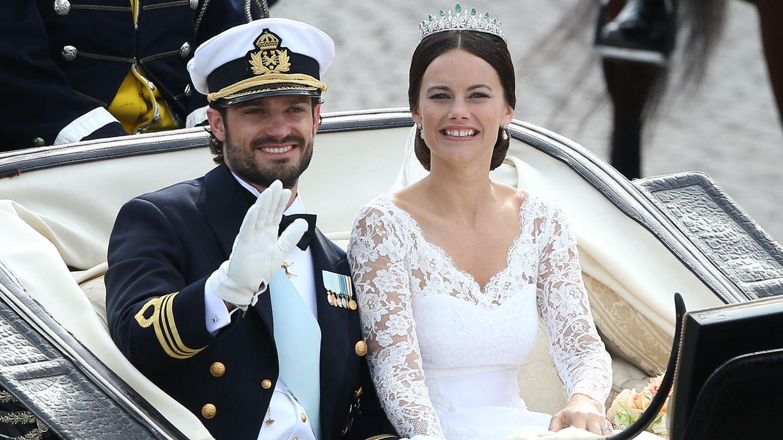 Foto: Carlos Felipe y Sofía el día de su enlace (Gtres)