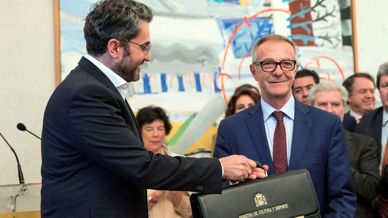 El ministro de Cultura, José Guirao, en el traspaso de cartera con Màxim Huerta. (EFE)