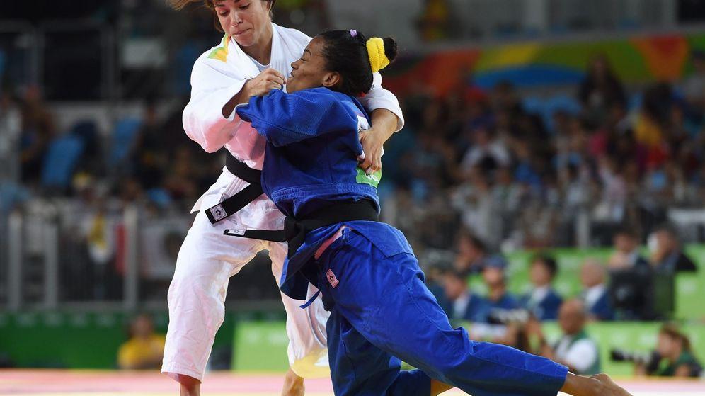 Foto: Julia Figueroa durante su participación en Río (Facundo Arrizabalaga/EFE)