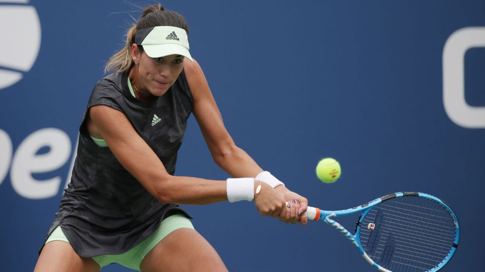 Foto: Garbiñe no pudo con Riske en el US Open. (Reuters)