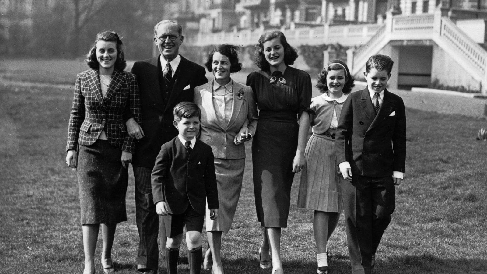 Foto: La familia Kennedy, fotografiada en Londres. (Getty)