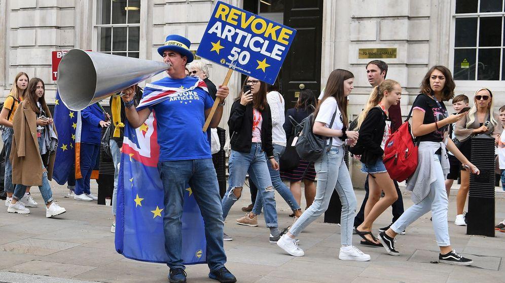 Foto: Una protesta contra el Brexit. (Reuters)