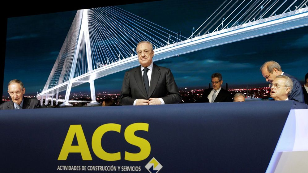 Foto: El presidente de ACS, Florentino Pérez (c), durante la junta de accionistas de la compañía, este viernes en Ifema, en Madrid. (EFE)
