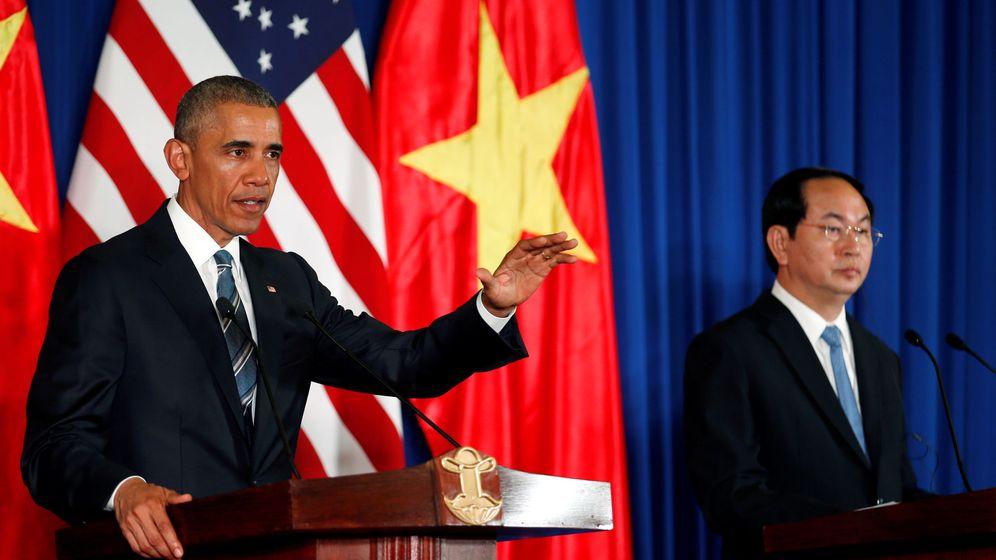 Foto: El presidente de EEUU, Barack Obama, junto al de Vietnam, Tran Dai Quang. (Reuters)