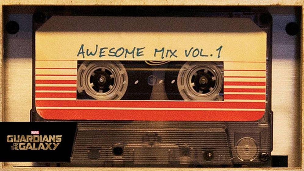 Foto: Casete de la banda sonora de Guardianes de la Galaxia. Foto: Marvel