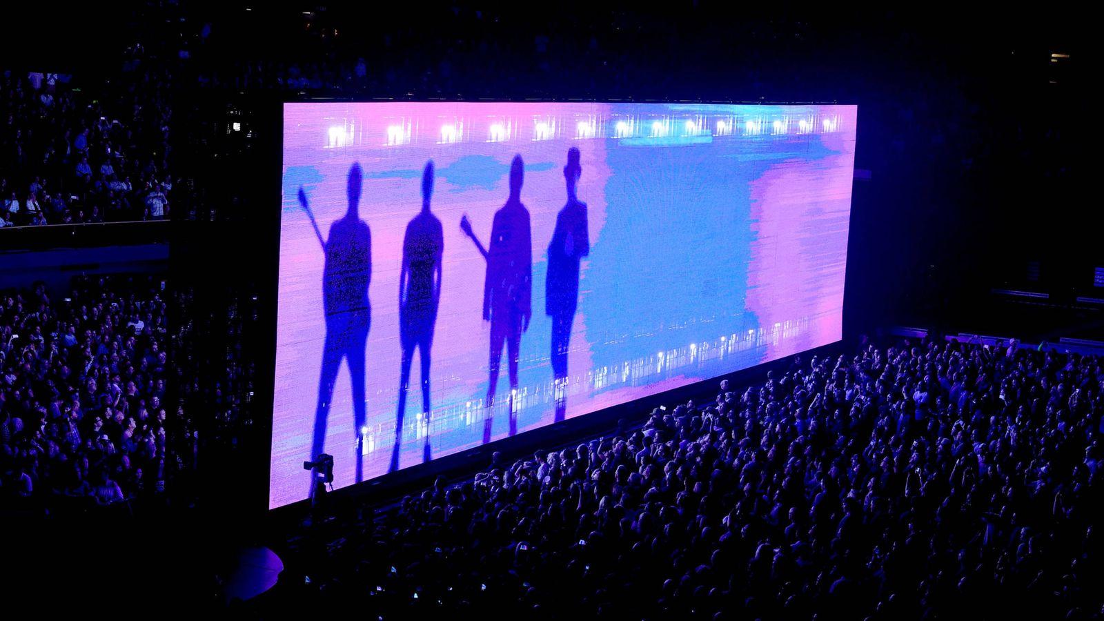 Foto: U2 en un concierto (Getty)