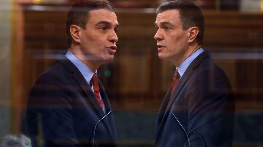 Foto: El presidente del Gobierno, Pedro Sánchez, este 22 de abril, en el pleno del Congreso. (EFE)