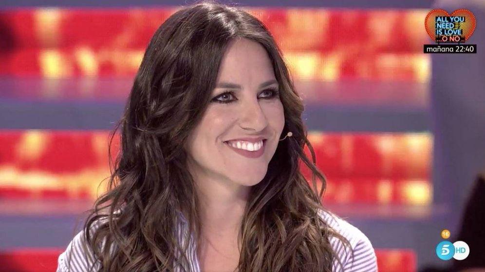 Foto: Irene Junquera, durante una emisión en Telecinco.
