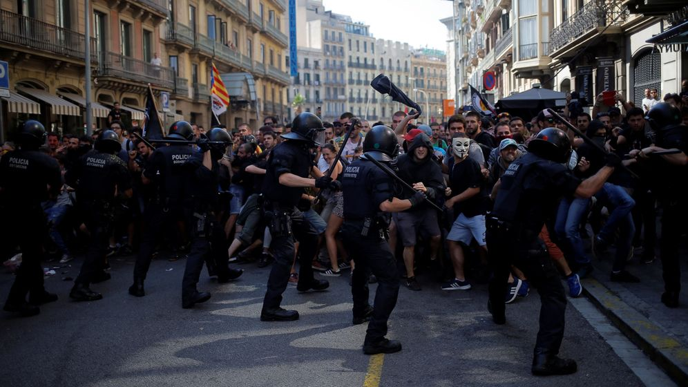 Foto: Los CDR habían convocado una contramanifestación a la de los sindicatos policiales. (Reuters)