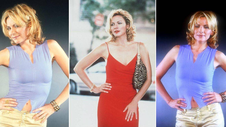Tres ejemplos del estilo Samantha. (Getty)